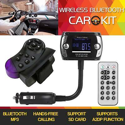 Bluetooth Car Kit LCD MP3 Player FM Transmitter Modulator USB Wireless Remote