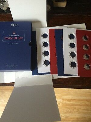 Royal Mint - The Coin hunt album - £1 coins - Extended edition - Brand New