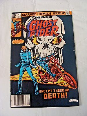 Ghost Rider #81 Final Issue Fine/VF