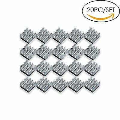 New Mini Aluminum Heatsink Chips, 6.35x3.18mm Silver, VGA RAM Cooling 20 Pieces