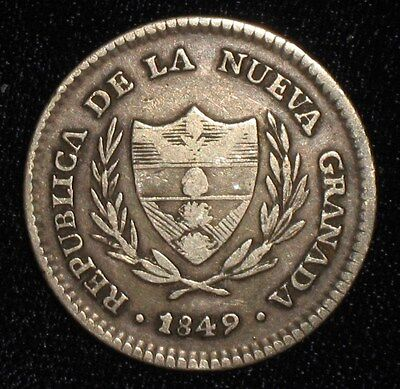 1849, 2 Reales from Bogota, Columbia.  No Reserve!