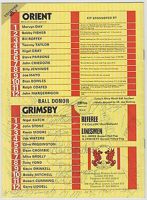 Grimsby Town 1980-1981 Away Programme Rare Original Hand Signed 19 X Signatures
