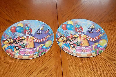 Collectible Rare Ronald Mc Donald Plastic Birthday plates (2000) Lot of (2)