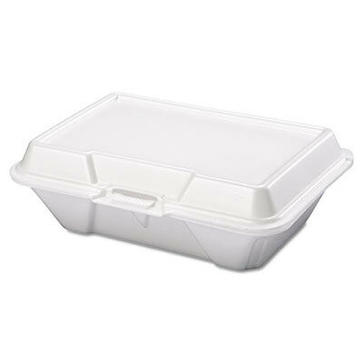 Foam Carryout Containers, 9 1/5 x 6 1/2 x 3, White, 100/Bag, 2 Bags/Carton 20500