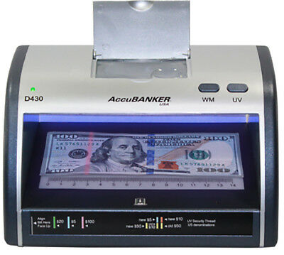 Accubanker Led 430 Counterfeit Money Detector Uv Led Magnifier Mag Head New