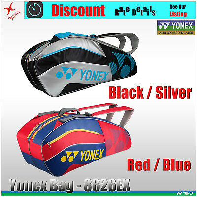 YONEX RACQUET BAG 8526EX - 6 Tennis / 8+ Badminton Squash Racquet - Now Model