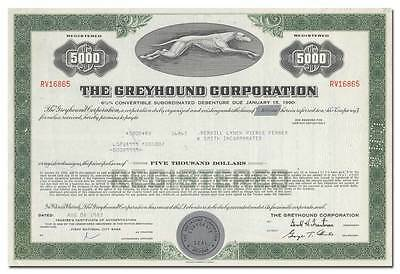 Greyhound Corporation Bond Certificate