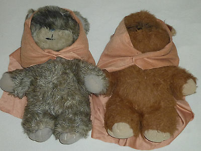 "Vintage 15"" Ewok Plush Toy Lot Wicket Latara Star Wars 1980S Kenner Esb Rotj >>"