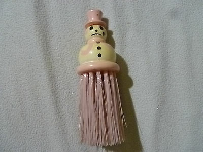 Vintage Wooden Figural Snowman Christmas Winter Brush Novelty Antique Whisk 7""