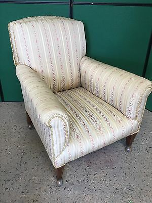 Antique Edwardian Upholstered Armchair