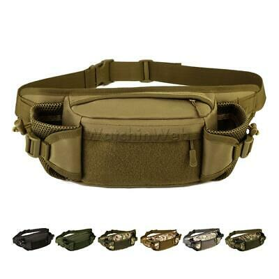 Waterproof Nylon Military Tactical Travel Belt Chest Fanny Pack Waist Bag Bumbag