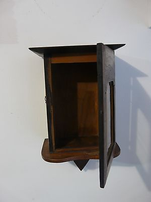 Rare Antique Primitive Wooden Chest Cupboard Wall Cabinet