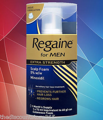 Regaine for Men Extra Strength Foam 1 Month's Supply 73ml