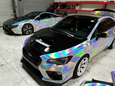 3D HOLOGRAPHIC Chrom RAINBOW für Car Wrapping, Spiegelfolie, Effektfolie