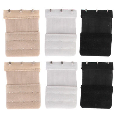 6a77f32b46 Ladies Womens Elastic 3 Hooks Pack of 6 Bra Extender Extension Clip On Strap
