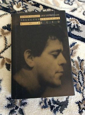 Lou Reed -SIGNED -Between Thought And Expression- Hardback Book, 1st ed. - Nice!