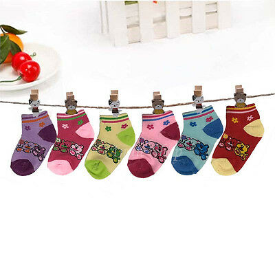 New Lot 12 Pairs Newborn Baby Girls Multi Color Kids Soft Ankle Socks Multi Size