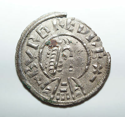 Anglo Saxon Silver Penny, BURGRED (852-874), Lunette Type, Crowned Bust