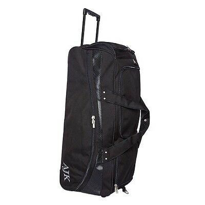 Salix AJK 33 Tri Wheeled Stand Up Cricket Bag - Black