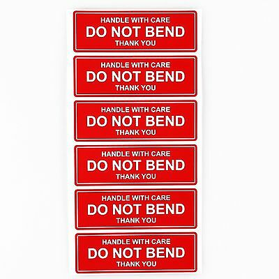 50 of  1 x 3 DO NOT BEND HANDLE WITH CARE THANK YOU Shipping Stickers Labels