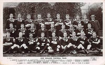 NEW ZEALAND, COUNTRY'S FOOTBALL TEAM, IDENTIFIED PLAYERS REAL PHOTO PC used 1906