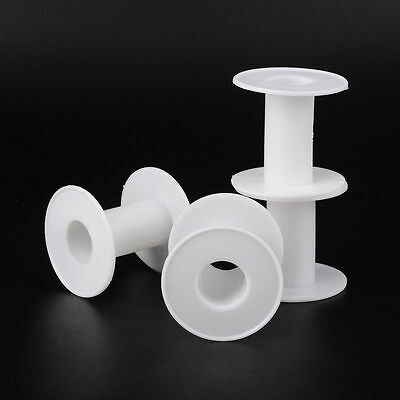 1-20pcs Empty Plastic Wire Spools Bobbins ROUND  various Size Cord Ribbon Swing