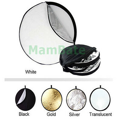 """110CM 43"""" 5-in-1 Photography Studio Multi Photo Disc Collapsible Light Reflector"""