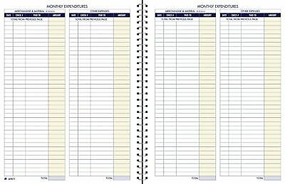 Adams Bookkeeping Record Book Monthly Format 8.5 x 11 Inches White (AFR71) Each