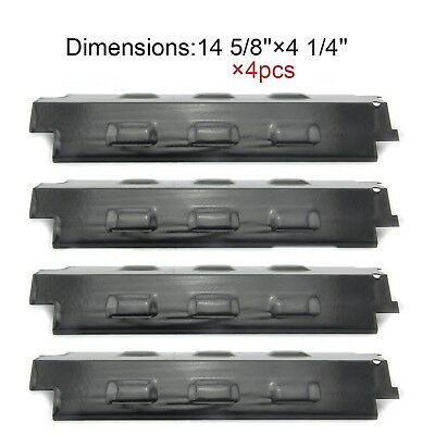98531(4-pack) Porcelain Steel Heat Plate Replacement for Select Gas Grill Mod...