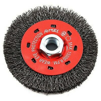 Forney 72788 Wire Wheel Brush Coarse Crimped with 5/8-Inch-11 Threaded Arbor ...