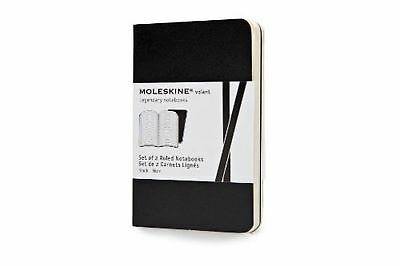 Moleskine Volant Notebook (Set of 2 ) Extra Small Ruled Black Soft Cover (2.5...
