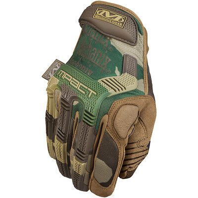 Mechanix Wear M-Pact Mens Tactical Paintball Airsoft Shooting Gloves Woodland