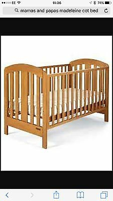 Mamas And Papas Madeleine Cot Bed Mattress And Changing Station/Mat