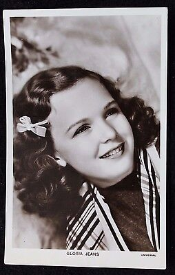 Nice Vintage Real Photo Postcard of Actress Gloria Jeans