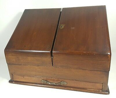 Antique Writing Slope Stationary Cabinet - Writing Box – Desk Top Cabinet