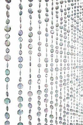 ShopWildThings Diamante Duo Beaded Curtain with Large Diamonds and...