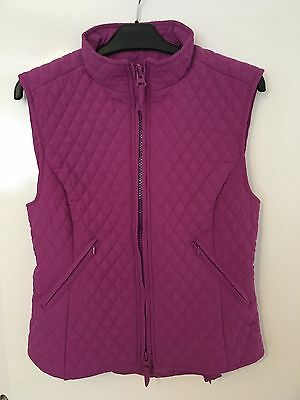 Shires quilted pink / purple gilet - Medium