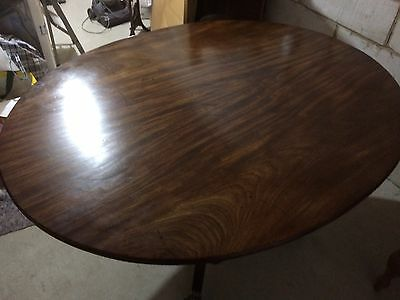 Antique Style Mahogany Flip Top Dining Table