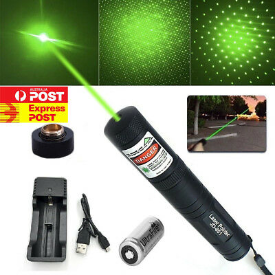New  JD851 Laser Pointer 1mw 532nm 16340 Battery + USB Rechargeable Sydney OZ