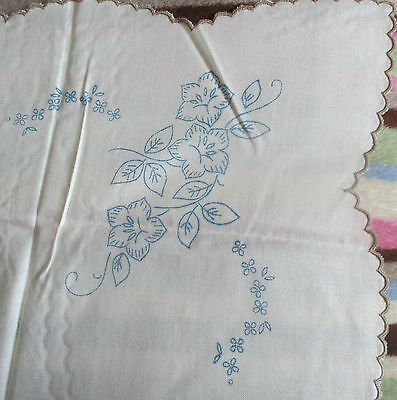 Vintage Irish Linen Tablecloth To Be Embroidered