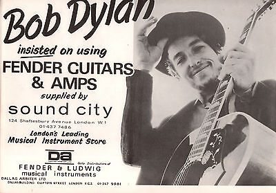 1969 Isle Of Wight Festival Program With Pulled Fender Guitar Bob Dylan Ad