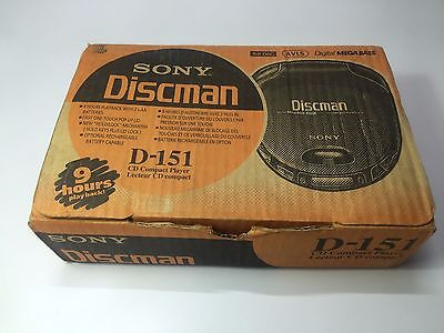 Sony D-151 -  Discman -  Cd Compact Disc Player