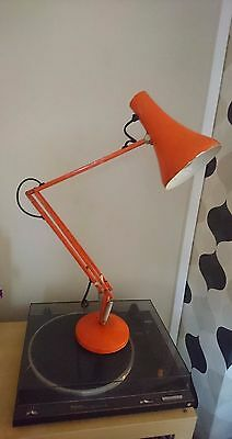 Vintage Retro Anglepoise Orange Metal Workshop Desk Table Lamp
