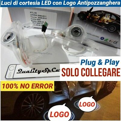 X2 PROIETTORI LOGO Volkswagen BEETLE Luci portiere VW GOLF 5 LED CADDY TURAN cou
