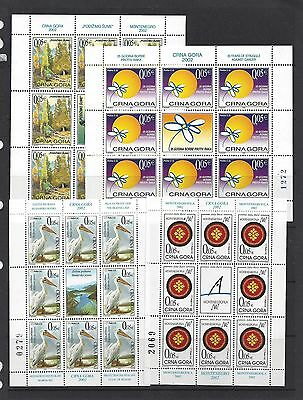 Macedonia 2002 Postal Tax Stamps, Compleet Sheets, Pelicans, Forests, More
