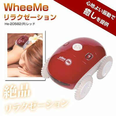 Relaxation Robot Wheeme Body Massage Whee me Red from Japan + Tracking Number