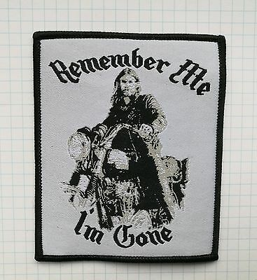 Lemmy Remember Me Embroidered Cloth Iron On Patch  Aufnäher