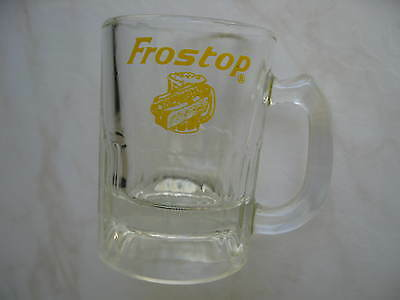 """Vintage Small Frostop Root Beer Glass Mug (3 1/4"""" Tall)"""