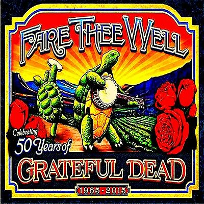 "2.5"" Grateful Dead Fare thee Well 50 years 1965-2015 STICKER. For guitar, bong."