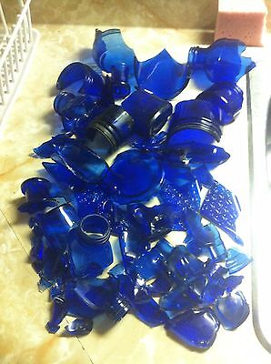 Antique cobalt blue glass bottles. Huge group lot